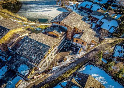 Chamonix skiresort dronefotografi